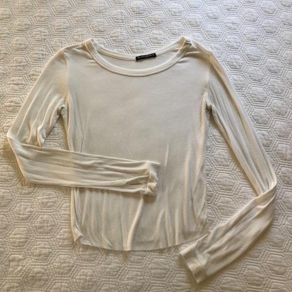 Brandy Melville white long sleeve top